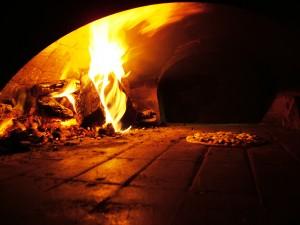 Pizza im Ofen